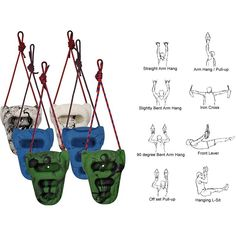 Metolius Rock Rings 3D Portable Training Device For Climbers - A convenient, portable, compact and inexpensive approach to climbing-specific training