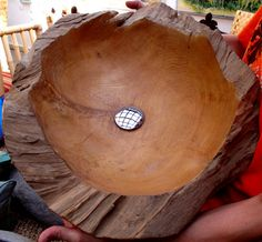 Teak wood bowls from Bali Indonesia Wooden washing basin sinks from Bali Indonesia