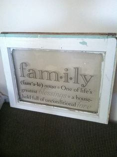Antique window as frame