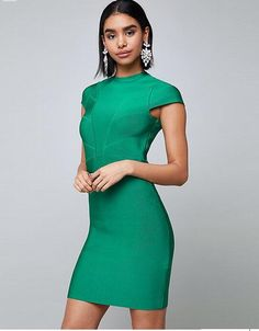 f37424e346e3 New fashion update sample green bandage short sleeve casual women dress for  summer with strong stretch elegant clothing wholesale china