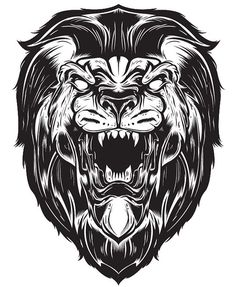 Vector Illustration lion or man bear pig or lion, hopefully a lion, that was the goal.. #lion #vector #yay