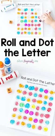 Teach letters with this roll and dot the letter alphabet activity! It is a great way for preschoolers and kindergarten students to learn the alphabet! via @danielledb