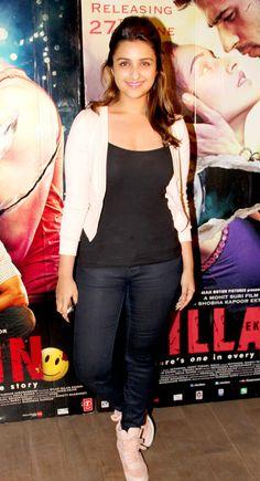 Parineeti Chopra at special screening of 'Ek Villain'. #Style #Bollywood #Fashion #Beauty