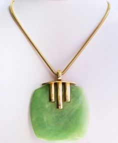 lucite runway necklace