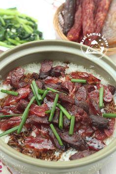 Nasi Lemak Lover: Waxed Meat Claypot Rice (Lap Mei Fun) 腊味饭_2016 CNY dish_金猴报春