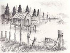 landscape sketches - Google Search