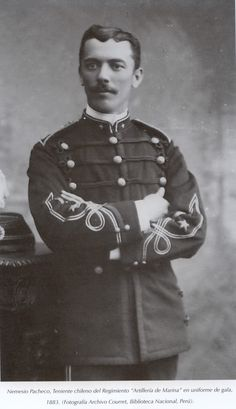 Teniente N. Pacheco Regimiento de Artilleria de Marina