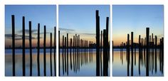 Forgotten Dock. Contemporary Art, Modern Wall Decor, 3 Panel Wood Mounted Giclee Canvas Print, Ready to Hang B1089 $49.99 #bestseller