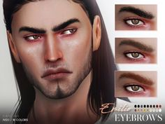 Emilio Eyebrows N120 by Praline Sims for The Sims 4