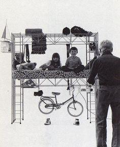 Bruno Munari –Habitacle, 1971 Atelier Architecture, Collage Architecture, Nomadic Furniture, Urban Interior Design, Home Decoracion, Design Research, Jean Arp, Photomontage, Mid Century Design
