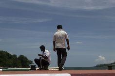 https://flic.kr/p/yTAPVE   Lifeguards on Ross Island jetty, Andaman
