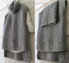 55 Ideas For Knitting Baby Vest Pattern Link Easy Knitting, Knitting Patterns Free, Knit Patterns, Poncho Mantel, Vest Pattern, Knitted Poncho, Knit Fashion, Crochet Clothes, Pulls