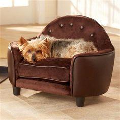 Enchanted Pet Home Ultra Plush Headboard Bed - Brown