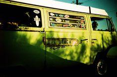 beach, california, vw, bus