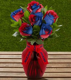 The FTD® University of Arizona® Wildcats™ Rose Bouquet - 6 Stems -