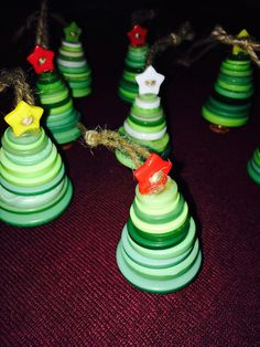 Hanging Button Christmas Tree Decoration