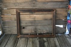 Large Brown Vintage Shabby Chic Wooden Picture Frame by vintapod