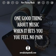One good thing about music, when it hits you, you feel no pain Music Is Life, Music Music, All About Music, Song List, The Dj, Trance, Listening To Music, Music Stuff, Music Quotes
