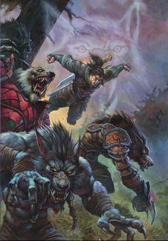 Varian alongside Worgen in Wolfheart