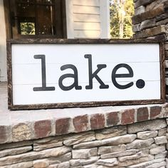 We have a few lake & lakehouse signs listed in our etsy shop! By Simply Inspired Co Wir haben ein pa Lake House Signs, Lake Signs, Cabin Signs, Lake Decor, Shops, Lake Cabins, Lake Cottage, Etsy Shop, Porch Signs
