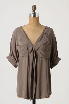 amazing brown Anthropologie shirt