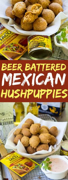 Beer Battered Mexican Hushpuppies