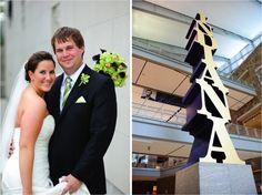 Leesa + Michael   Wedding Ceremony and Reception.  Photos by Jeremy + Vickie.  #IndianaStateMuseum