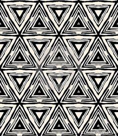 1930s art deco geometric pattern with triangles by Tukkki, via Dreamstime