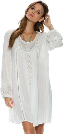SWELL HANNA LS EMBROIDERED DRESS. http://www.swell.com/New-Arrivals-Womens
