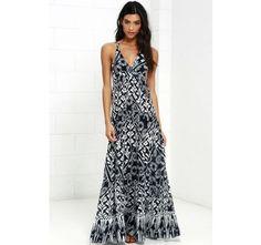 Raga Tropic Blues Navy Blue Floral Print Maxi Dress | SHOP @ CollectiveStyles.com