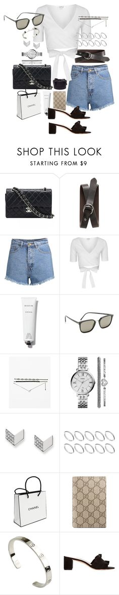 """Untitled #1030"" by marissa-91 ❤ liked on Polyvore featuring Chanel, Banana Republic, Topshop, Rodin, Yves Saint Laurent, FOSSIL, ASOS, Gucci, Cartier and Loeffler Randall"