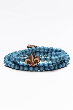 Fleur De Lis Wrap Bracelet