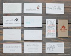 Alt business cards // creaturecomfortsblog.com