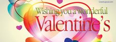 Wishing You A Wonderful Valentine's Facebook Cover coverlayout.com