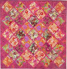 Chelsea Squares (Quilts in Ireland) Patchwork Quilt Patterns, Machine Quilting Patterns, Quilt Patterns Free, Applique Patterns, Quilting Designs, Quilting Ideas, Snowball Quilts, Quilt Blocks Easy, Watercolor Quilt