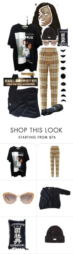 """""""initiation"""" by vices-virtues ❤ liked on Polyvore featuring Emilia Wickstead, Miu Miu, Sandro, The Hundreds and Dr. Martens"""