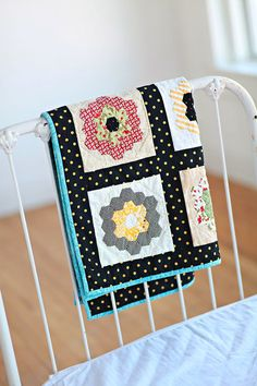 Home Sweet Home a hexie quilt by ahappydance on Etsy