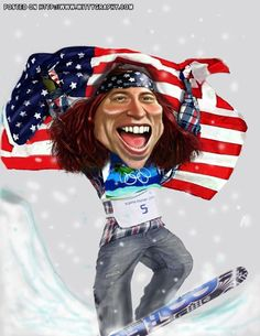 Rocky J Sawyer: Shaun White Create A Comic, Shaun White, Caricature Drawing, Wtf Face, Celebrity Caricatures, Sports Figures, People Art, A Comics, Best Face Products