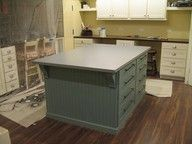 Island in laundry craft room