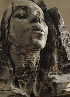 "Tony Cassanelli- ""Encounter""-Diana's portrait-black marble"