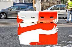 Originele, bizarre straatkunst.