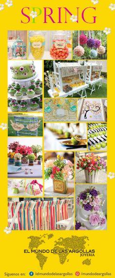 La primavera te ofrece muchas alternativas lindas para decorar tu boda…utiliza flores, frutas, colores llamativos o tonos pasteles; echa a volar tu imaginación y agrega divertidos detalles en todos los espacios de tu boda. #IdeasParaTuBoda