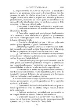 Libro de Disciplina 2012 Parte 2. Este es el libro en que la IMU plasma las leyes, normas y políticas con que se gobierna. Es un material cuadrienal.  The Book of Discipline sets forth the plan by which we United Methodists govern ourselves. It reflects our understanding of the Church and of what is expected of its laity and clergy as they seek to be effective witnesses in the world as a part of the whole body of Christ.