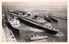 The French Lines Normandie and Ile de France.