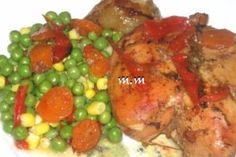 Piept de pui cu legume la cuptor Chicken, Meat, Dinner, Food, Fine Dining, Dining, Hoods, Meals, Dinners