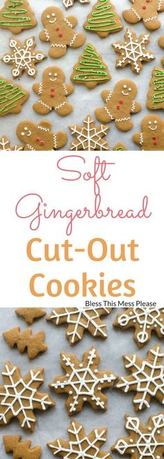 Soft Gingerbread Cut-Out Cookies ~ These soft gingerbread cut-out cookies are sweet, soft, and lightly spiced. They will quickly become a family favorite for the holidays!