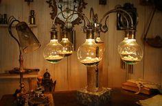steampunk lamp, lampe, brutanlage... www.steampunker.de