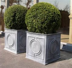 Lead Planter  Classical lead planters with circle