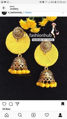 Silk Bangles, Silk Thread Earrings, Fabric Earrings, Diy Earrings, Diy Fabric Jewellery, Thread Jewellery, Textile Jewelry, Diy Jewelry Recycled, Handmade Jewelry