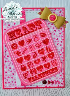 Good Morning and Happy Tuesday! This is Sara from Design a Party by Sara. It's my day here to share with you. I normally am not a card ma. Valentine Bingo, Valentines Day, New Baby Photos, Bingo Cards, Happy Tuesday, Treat Bags, New Baby Products, Treats, Journal